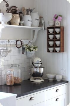 Pretty Swedish-style baking area.