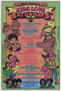NBC 1980s Saturday Morning Cartoon Ad feat. Pac Man, Rubik the Amazing Cubem The Littles, The Monchichis, and more