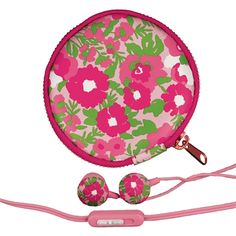 Garden By The Sea Lilly Pulitzer Earbuds and Pouch