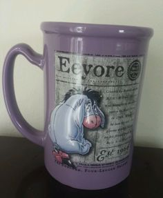 Have it & I love it!! - RARE EXTRA LARGE EEYORE WALT DISNEY STORE COFFEE / TEA MUG  My mug!!