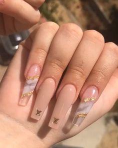 Acrylic Nails Coffin Pink, Classy Acrylic Nails, Long Square Acrylic Nails, Coffin Shape Nails, Coffin Nails Long, Fall Acrylic Nails, Nagellack Design, Glow Nails, Glamour Nails