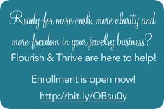 #jewelry #designers #makers #business http://www.flourishthriveacademy.com/layingthefoundation/