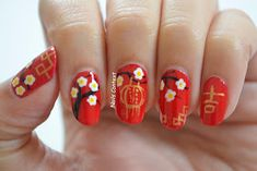 Nails Context: Chinese New Year Chinese New Year Traditions, Chinese New Year Cookies, Chinese New Year Crafts For Kids, Chinese New Year Gifts, Chinese New Year Activities, Chinese New Year Decorations, New Years Nail Designs, New Years Nail Art, Nail Art Designs