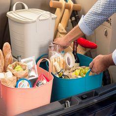 Pour la voiture, pour les légumes, pour les déchets à recycler...On fait tout avec ces bacs souples ! ON RANGE TOUT