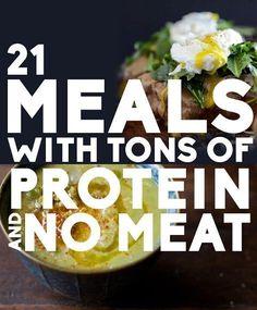 Meatless meal ideas.