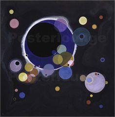 Poster / Leinwandbild Kreise - Wassily Kandinsky in Möbel & Wohnen, Dekoration, Bilder & Drucke | eBay!