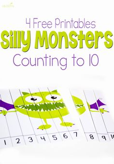 FREE Silly Monsters Count to 10