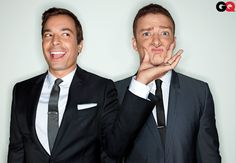 Jimmy & Justin in wedding worthy looks.  This would even be cool for a Groom & Best Man picture