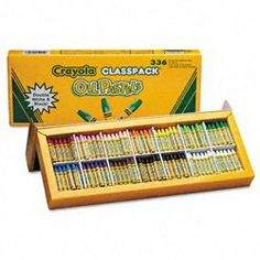 Crayola 52-4629 Crayola oil pastels classpack, jumbo-sized stick w/tapered point, 336/pack by Crayola. $39.20. Each oil pastel has color name on the label.. Tapered point is ideal for detail drawing.. Oil pastels with a smooth, creamy laydown of bright, vivid, opaque color.. Great Quality at the best price!. Jumbo-sized stick designed for children?longer lasting, strong, durable and hexagonal so it doesn?t roll off desks.. Crayola Classpack provides multiple colors to choos...