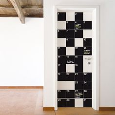 My Calendar - Stay organized with the help of this chalkboard wall calendar. This calendar wall decal incorporates a black chalkboard vinyl that you can write on and erase. Chalkboard Wall Bedroom, Chalkboard Vinyl, Black Chalkboard, Athens Apartment, Apartment Ideas, Chalkboard Wall Calendars, Wall Ladders, Cool Calendars, Nerd Room