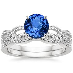 18K White Gold Sapphire Infinity Matched Set ... A good bargain considering all the ring shopping will be done!!!