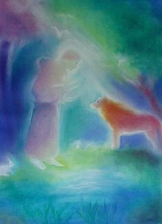 One of my favorite childhood stories- St. Francis of Assisi and the wolf.