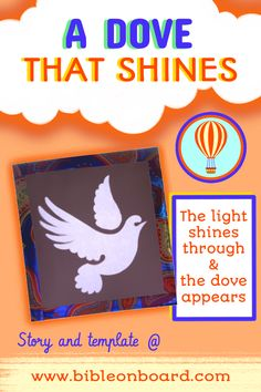 The dove appears when light shines through this card, make it and give it to others to celebrate Pentecost! Shine The Light, Pentecost, Bible Crafts, Templates, Activities, Board, Blog, How To Make, Stencils