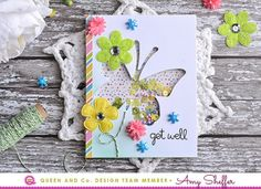 Queen & Co Solo Butterfly Card Kit