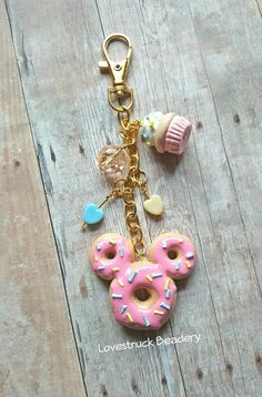 Mickey Donut Planner Charm Mickey Mouse Donut by LovestruckBeadery