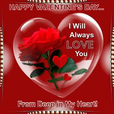 Valentine's Day 14th February/For Her section. Send to your wife, sweetheart, lover or partner with your love! Permalink : http://www.123greetings.com/events/valentines_day/couples/for_her/from_deep_in_my_heart.html