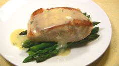 Pan-fried Salmon with Asparagus and Lemon Cream - lovely light dinner, do easy yet a little indulgent