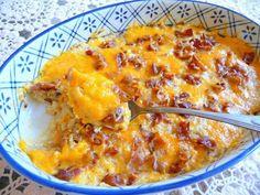 cauliflower chedder bacon casserole