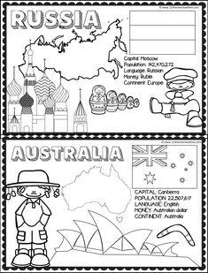 Teaching Geography, Teaching Kids, Kids Learning, Montessori Activities, Classroom Activities, Book Activities, Around The World Theme, Kids Around The World, Childhood Education