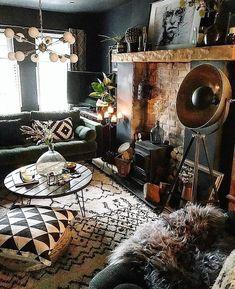 Casa da Anitta: see the singer's mansion in Barra da Tijuca - Home Fashion Trend Dark Living Rooms, Home Living Room, Living Room Decor, Living Spaces, Bedroom Decor, Entryway Decor, Photo Deco, Deco Boheme, Home Improvement Loans