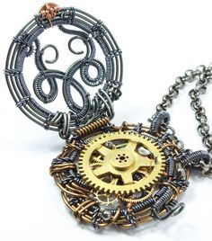 Steampunk Jewelry - Steampunk Locket Pendant. $145.00, via Etsy.