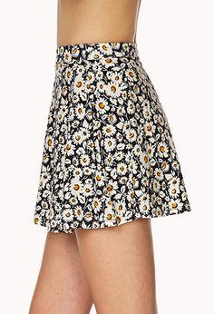 Field of Daisies Skater Skirt   FOREVER21 - 2000070788