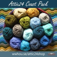 The Attic24 Coast Pack contains everything you need to make Lucy from Attic24's gorgeous crocheted Coast Ripple Blanket - 15 lovely shades of Stylecraft Special DK, plus a printout of Lucy's pattern!  #attic24 #stylecraft #crochet #WoolWarehouse