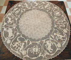 Centro rotondo zodiacale a Pesaro - Orvieto Crochet Lace Zodiac