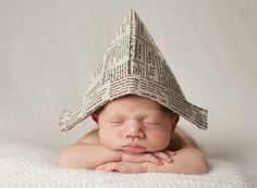 Crew & Lu | adorable newsprint hat