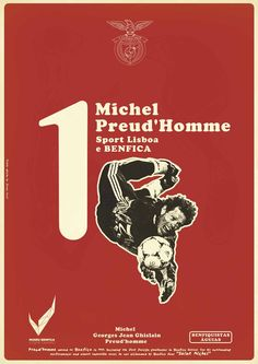 The Print Ad titled Vintage Stars - Michele Preud'homme was done by Y&R Lisboa advertising agency for product: Museu Benfica (brand: SLBenfica) in Portugal. It was released in May Football Art, World Football, Football Posters, Graphic Design Typography, Graphic Design Illustration, Rui Costa, Typo Logo, Print Packaging, Soccer Players