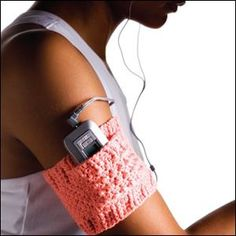 Crochet mp3 Arm Band. Great gift idea!