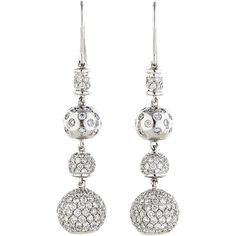 Pre-owned 4.97ctw Diamond Drop Earrings (6,370 CAD) ❤ liked on Polyvore