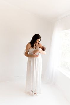 motherhood means maternity dresses and maternity robes for new moms and moms to be White Maternity Dresses, Maternity Clothing, Grecian Wedding, Dress Wedding, Plum Pretty Sugar, Baby Shower Dresses, Bridesmaid Robes, Mommy Style, Family Outfits