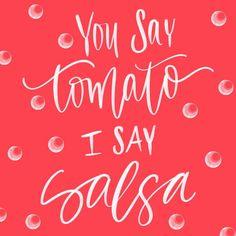 Pass the salsa // #handwrittenbycassi #handlettering #brushlettering #moderncalligraphy #ipadpro #applepencil #procreateapp #hwbc #thatsdarling #darlingweekend