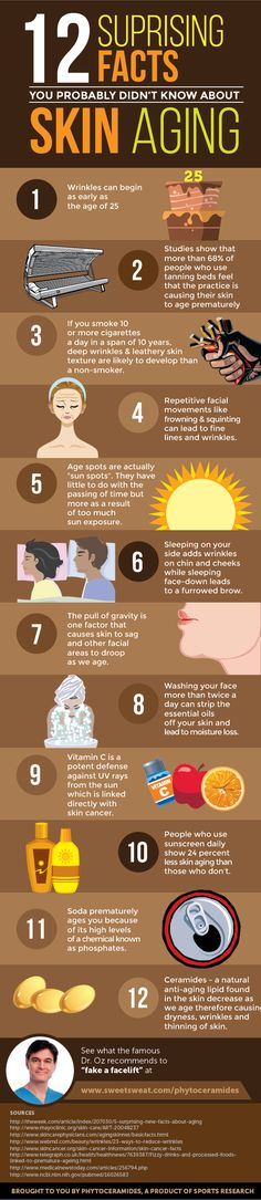 12 Surprising Facts You Probably Didn't Know About Skin Aging   #Infographic #SKin #Aging #Health