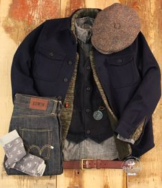 peterfieldsberlin: Friday Outfit with… Hatteras Harris Tweed Hat from Stetson Europe.Angus Shirt in navy from Kings Of Indigo. Cardi Knit i...