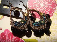 Blue Shell Chandelier Earring by YYworkshop on Etsy, $10.00