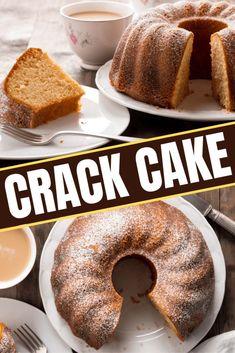 Cake Mix Desserts, Kinds Of Desserts, Cake Mix Recipes, Dessert Recipes, Yellow Cake Recipe Easy, Crack Cake, Vegetarian Cake, Yellow Cake Mixes, Cake Tasting