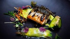 Beef tataki wellington with shimeji mushrooms horseradish and spicy flame grilled bonito with pickled cucumber celtic mustard and shiso masterchef australia 2015 forumfinder Gallery