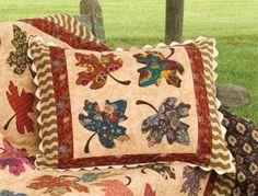 Одеяло Вдохновение Бесплатный шаблон день Осенние листья Quilts