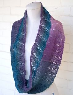 NobleKnits.com - Plymouth Arya Embruli Lace Edge Cowl Knitting Pattern