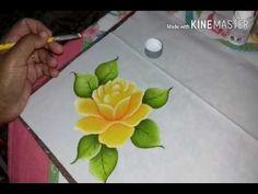 YouTube tutorial pintura em tecido