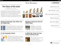 Zite iOS Magazine-style Newsreader app. :)
