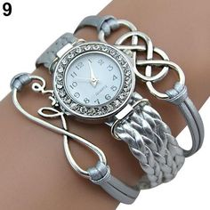 Women's Double Infinity Crystal Dial Watch