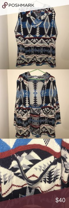 RARE Tobi Aztec Print Cardigan This is an aztec print cardigan from Tobi! Very warm and never worn before. Great for winter and to style with leggings. Price is flexible! Tobi Sweaters Cardigans
