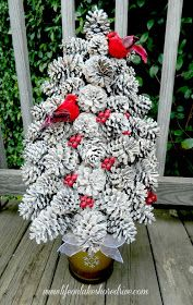 Turn a handful of pine cones into the most unique tabletop trees you have ever seen. If you like out of the box ideas, then you will love this innovative Pretty Pine Cone Tree Craft. Pine cone crafts for Christmas are the best. Pine Cone Tree, Pine Cone Christmas Tree, Cone Trees, Tabletop Christmas Tree, Christmas Tree Crafts, Rustic Christmas, Christmas Projects, Holiday Crafts, Christmas Decorations