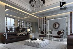 Wow! black gold grey room designs | ... Art Deco Living Room Ideas Image 551 Art Deco Living Room Design Ideas