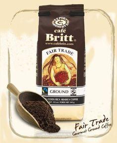 Cafe Britt Fair Trade Ground Coffee, 12 Ounce Bag