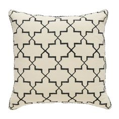Black Brooke Blockprint Pillow