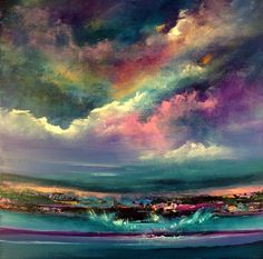 """Symphony Of Rainbows"" 60x60 cm, acrylic on canvas."